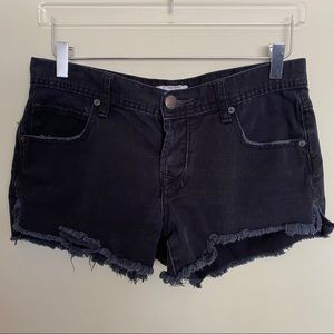 Free People Button Fly Distressed Shorts - 27